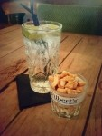 Yummy pubs use branded glasses to serve nuts