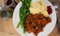 Not-so-meaty dish: More Than Meat's 'lamb casserole'