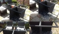 Furniture warning: pub's rattan and glass table shatters in heatwave