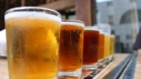 Down: on-trade beer volume sales continued to decline