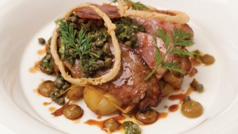 Top 50 gastro recipes the plough inn roasted calves liver for Best bar food recipes