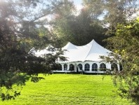 Take advantage: Installing a marquee can provide a suitable outdoor area