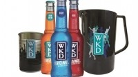 More than 12,000 WKD cocktail jugs and 15,000 WKD tins will be distributed to pubs and bars around the UK
